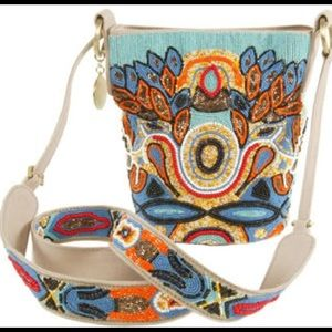 Stella Mccartney Tribal Beaded canvas bucket